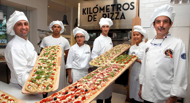 ¡Pizzas de 2 metros en Madrid!