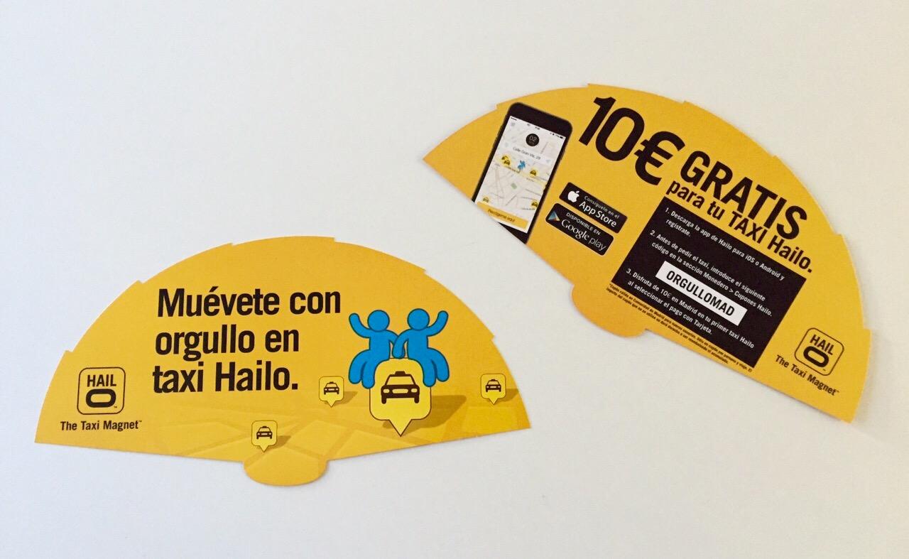 Abanicos para merchandising Orgullo 2015. Hailo Madrid.