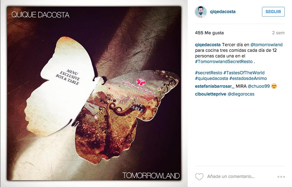 Instagram de Quique Dacosta