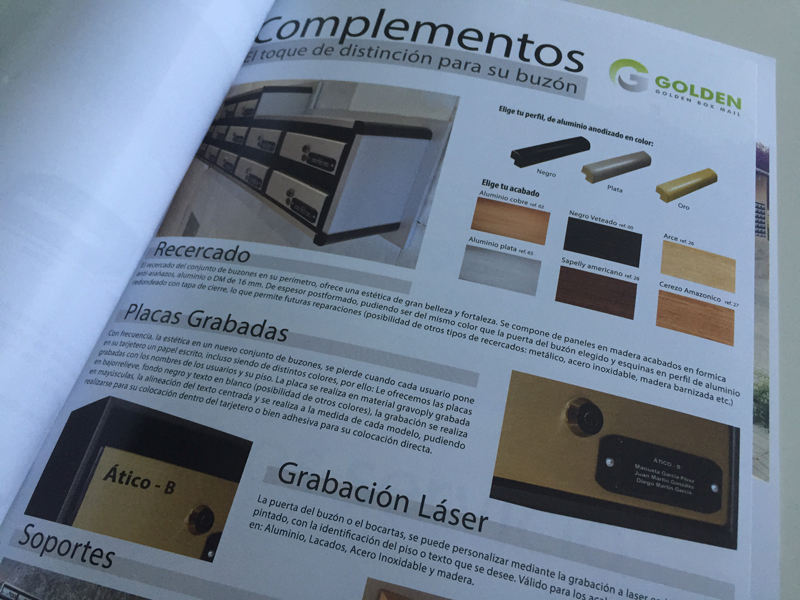 Nuevo diseño de catálogo para Golden Box Mail
