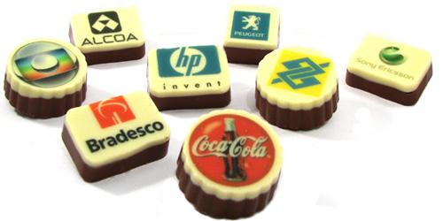 Bombones personalizados con tu logo - Chocolatesecia