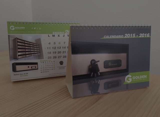 Calendarios 2016 para Golden Box Mail