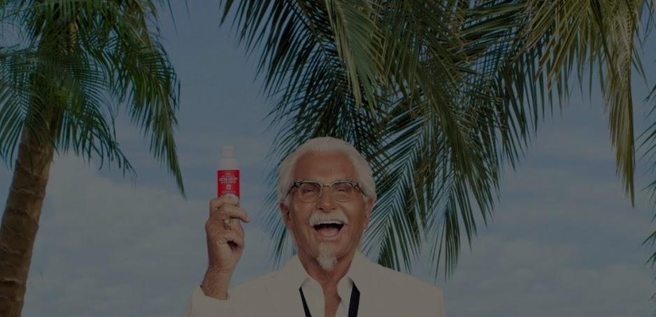 KFC roza lo friki con su última campaña: cremas solares con olor a pollo frito