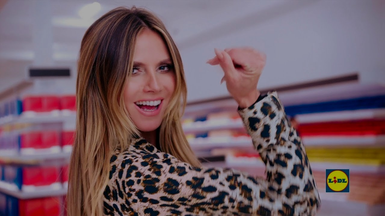 ¿Heidi Klum como diseñadora de la ropa de Lidl?
