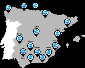 mapa delegaciones duam comunicación