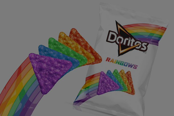 ¿Conoces los polémicos Doritos Rainbow multicolor?