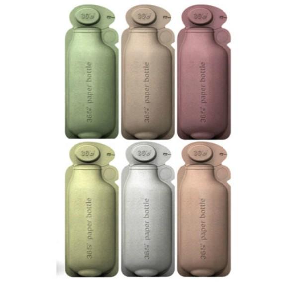botella-agua-papel