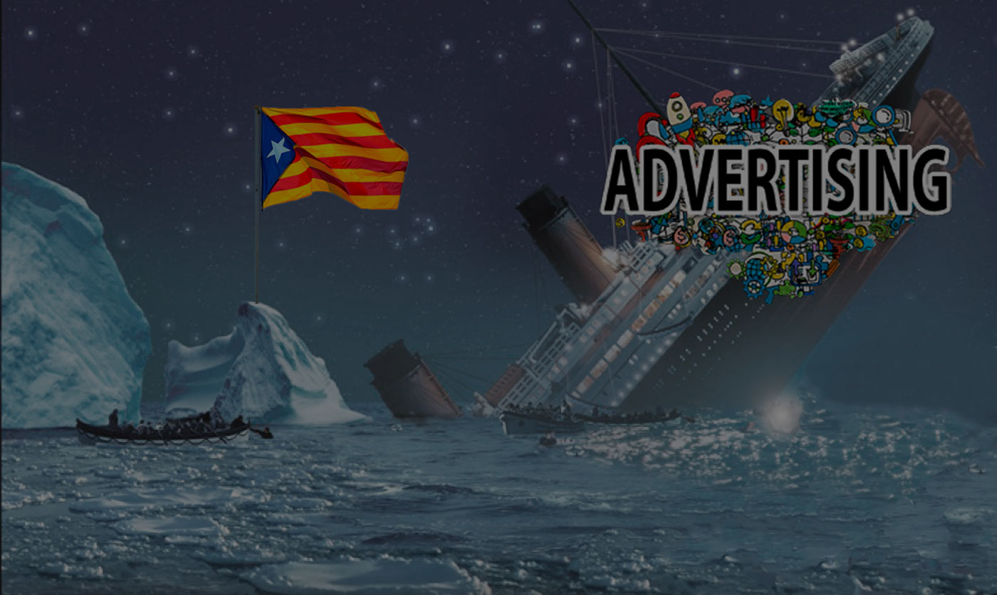 La publicidad se hunde en Cataluña